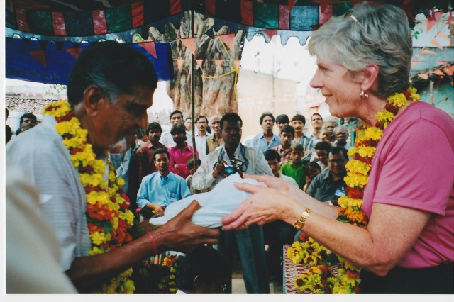 Mama Masters in 2002 on  one of her trips to India. She scheduled treatments around this trip because there as work to be done.